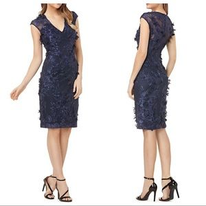 CARMEN MARC VALVO Appliqué Embroidered Dress